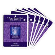 Korean Unnie Collagen Essence Face Facial Mask Package 6pcs - Enlarged Living Nature Grind Compressed Sheet Mask