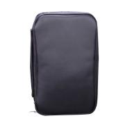 Professional Makeup Brush Bag Organiser with Belt Strap Holder Zipper Cosmetic Makeup Bag Handbag with Inner Mesh Bag Black