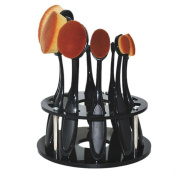 Cosmetic Shelf, Yoyorule 10 Hole Oval Makeup Brush Holder Drying Rack Organiser Shelf Tool