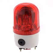 sourcingmap® Plastic Shell DC 24V 10W LED Flash Industrial Signal Alarm Lamp Red