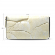 LEEZONE Lady Micro Fibre Leather Wallet DIY with Oil Paint Printing Purse