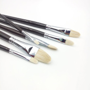 ARTIST PAINT BRUSHES ,Artist Horse mane plus wool combination Filbert Paint Brush , Gouache and Watercolour Painting Brushes(6-Pieces)art the best brush