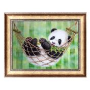 Delight eShop Lovely Panda DIY 5D Diamond Painting Embroidery Cross Stitch Crafts Home Decor