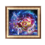 Delight eShop 5D Diamond Painting Carriage Embroidery Cross Stitch Crafts DIY Home Decor