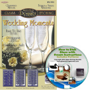 Wedding Party Glass Etching Stencils (3 pack), Great for Champagne Glasses + Free How to Etch CD