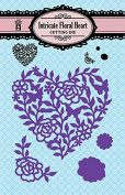 HOTP Paper Artist Intricate Floral Heart Cutting Die 5357
