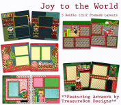 Joy to the World Scrapbook Kit - 5 Double Page Layouts