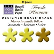 Bazzill Monocramatic Flower Brads Assortment - Yellows