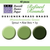 Bazzill Designer Brads Assortment - Greens