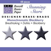 Bazzill Monocramatic Star Brads Assortment - Blackberry