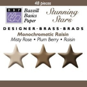 Bazzill Monocramatic Star Brads Assortment - Raisin