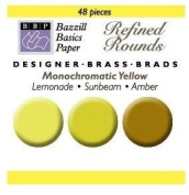 Bazzill Monocramatic Brads Assortment - Yellows