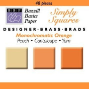 Bazzill Monocramatic Orange Square Brads Assortment