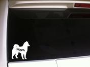 Husky Mom 15cm Vinyl Sticker DecalP84 Animals Pets Dogs Puppies Love Canine