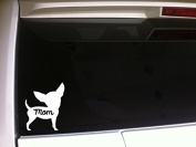 Chihuahua Mom 15cm Vinyl Sticker DecalP74 Animals Pets K9 Dogs Puppies Love Canine