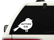 T1102 Matthew 6:26 Decal Sticker