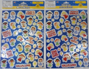 2 Packs Religious Angels Themed Laser Stickers Bundle - Total of 100 Stickers