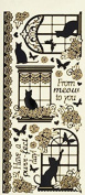 Dazzles Cat in the Window Stickers HOTP2570