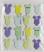 Baby Boy Onesie Bodysuit Clothing Dimensional 3d Stickers | Scrapbooking |