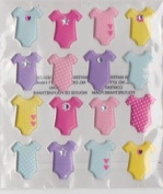 Baby Girl Onesie Bodysuit Clothing Dimensional 3d Stickers | Scrapbooking |