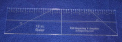 30cm x 7.6cm Ruler - 0.6cm Clear Acrylic - Quilting/Sewing/Embroidery - Template
