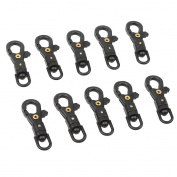 Generic 10pcs Plastic Swivel Snap Hook for Weave Paracord Lanyard Buckles Backpack