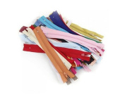 50PCS 18cm Length Mixed Colour Sewing Tool Crafts Nylon Closed Ended Zippers Zip for Sewing Clothes Tailor Sewer Craft