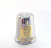 Amazing souvenir thimble sewing israel jerusalem Tower of David metal thimble
