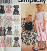 Simplicity # 0651 GIRLS' DRESSES 12 VARIATIONS Sewing Pattern Size