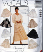 McCall's Sewing Pattern 6889 c1994 Misses' Tiered Boho Skirts, Size 4-6