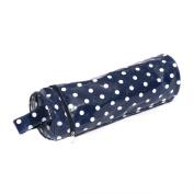 Hobby Gift Polka Dot Design Yarn & Needle Holder Bag White Spots on Navy