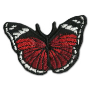 Small Butterfly Bumt orange 5.1cm Logo Sew Ironed On Badge Embroidery Applique Patch