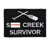 St Creek Survivor Hook & Loop Tactical Funny Morale Tags Patch Black & White