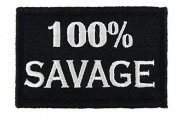 100% SAVAGE USA ARMY MORALE ISAF SWAT hook and loop FASTENER BADGE PATCH