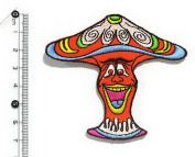 Mushroom Iron on Patch Embroidered Sewing for T-shirt, Hat, Jean ,Jacket, Backpacks, Clothing #2