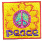 Naree2016 peace Iron on Patch Embroidered Sewing for T-shirt, Hat, Jean ,Jacket, Backpacks, Clothing