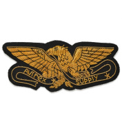 Eagle Bullion Wire Embroidered Badges, Sew-on Crest Applique Patch by 1 pc, 5.1cm x 11cm , OSB-25242