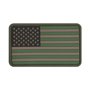 US MILITARY FLAG UNIFORM PATCH PVC RUBBER FORWARD MULTI-CAMOUFLAGE