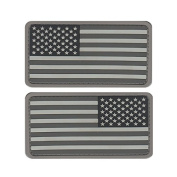 SWAT US MILITARY FLAG UNIFORM PATCH PVC RUBBER LOT OF TWO