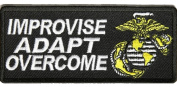 U.S. MARINE CORPS USMC IMPROVISE ADAPT OVERCOME PATCH - Colour - Veteran Owned Business.