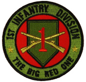 1ST INFANTRY DIVISION THE BIG RED ONE ROUND PATCH - Colour - Veteran Owned Business.