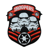 Storm Troopers Crest Iron-On Patch Badge Star Wars Empire Embroidered Applique