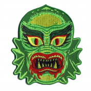Fish Face Freak Monster Patch Embroidered Iron On Applique