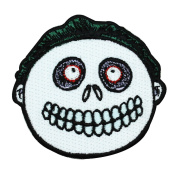 Barrel Nightmare Before Christmas Skeleton Kid Character Iron-On Patch Applique