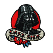 "Vader Love ""Dark Side"" Iron-On Patch Star Wars Character Craft Apparel Applique"
