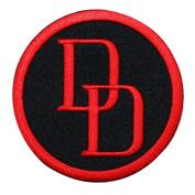 Daredevil Logo Iron-On Patch Marvel Comics Superhero Apparel Accessory Applique