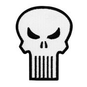 Retro Punisher Skull Superhero Costume Logo Iron-On Patch Marvel Comics Applique