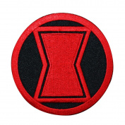 Black Widow Uniform Logo Iron-On Patch Marvel Hero Costume Accessory Applique