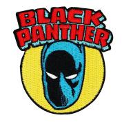 "Retro Marvel ""Black Panther"" Superhero Iron-On Patch Comics Fan Apparel Applique"