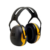 3M Peltor X-Series Over-the-Head Earmuffs, NRR 24 dB, One Size Fits Most, Black/Yellow X2A